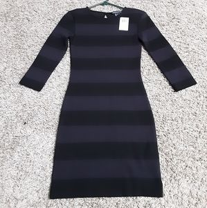 French Connection Striped Body Con